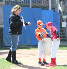 The Peter J. Foley Little League in Naugatuck held its opening day ceremony April 21. – ELIO GUGLIOTTI