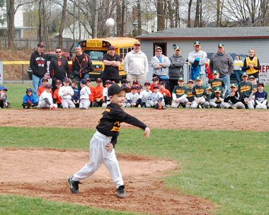 The Union City Little League in Naugatuck held its opening day ceremony April 20. –KEN MORSE
