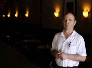 George Petrakopoulos, owner of Carrie Welton's stands inside his restaurant in Naugatuck Thursday afternoon. The well-known restaurant on Church Street will be closing its doors. –RA ARCHIVE