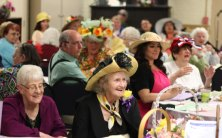 The Naugatuck Senior Center held its second annual Kentucky Derby Day May 3. The event featured a 'horse' race, a hat contest for the ladies, non-alcoholic homemade Mint Juleps made with mint grown at the senior center and a Kentucky fried chicken dinner. –ELIO GUGLIOTTI