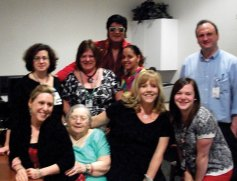 Staff and residents of Glendale Center in Naugatuck celebrated National Nursing Home Week May 19 with a visit from 'Elvis.' –CONTRIBUTED