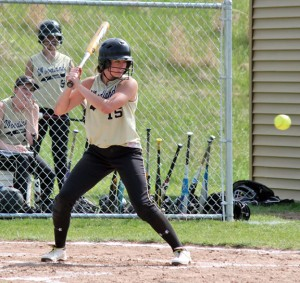 Woodland's Brianna Pacileo was one of three Hawks to have multiple hits May 30 against Lauralton Hall in the second round of the Class M tournament. The Hawks knocked nine hits on the day, but couldn't take advantage of every scoring chance they had as they lost, 4-2. –FILE PHOTO