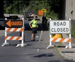 The Route 8 on-ramp from Union City in Naugatuck will be closed for weeks due to work on the Naugatuck Greenway. –RA ARCHIVE