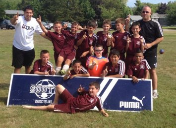 Naugatuck Elite Extreme, a Naugatuck Youth Soccer U11 boys team, won the Seaside Classic tournament, in South County, R.I. July 13 and July 14 sweeping all four games. Naugatuck's Zach Koslosky, Branden Lage, Nelson Lavoura, Fred Longo, Alex Manasoiu, Brian Portela, Brian Silva and Matthew Smith combined for 17 goals for the tournament. Naugatuck's defense was just as strong as goalies Michael Connan and Brandon Sampaio limited opponents to just four goals for the tournament with the help of a rock solid defense led Zach Koslosky, Dylan Gloden and Matthew Smith. Eduardo Garcia also contributed. 'I am very proud of my team they worked hard all season and continued to get better, I want to thank them for their hard work and a special thank you to my assistant coach Daniel Lavoura who helped to develop these boys skills. We may only be a town travel team, but I would put these boys up against any premier team and this past weekend proves it,' head coach Glenn Connan said. In lieu of trophies for the winners, a check for $3,000 was issued to Newtown Youth Soccer Club in the name Naugatuck Elite Extreme and the Seaside Classic Champions. Pictured: Naugatuck Elite Extreme back row from left, coach Daniel Lavoura, Brian Portela, Alex Manasoiu, Nelson Lavoura, Zach Koslosky, Dylan Gloden, Brian Silva and head coach Glenn Connan. Front row from left, Matthew Smith, Branden Lage, Michael Connan, Brandon Sampaio and Eduardo Garcia. Laying down, Fred Longo. –CONTRIBUTED