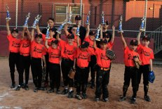 The Giants were the 2013 Union City Little League Minor League Champions. Pictured front row from left, Mike Fortunato, Dylan Trochsler, Gabe Niele, Tobey Niele, Johnathan McPhail, Dylan Sepulveda, Shane Cruz and Gabe Silva. Second row from left, Jeff Mercer, Jake Sheehan, Jack Tajmajer, Alex Filandro and Ethan Phaneuf. Back row from left coaches Justin Goodall, Ken Trochsler and George Cruz. –CONTRIBUTED