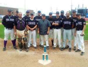 The Naugatuck Hackers won its league championship for the fourth time in seven years. Pictured, from left, Mike Doran, Mike Fox, Mike Bochino, Wes Dutton, Ricky Cool, Nick Pereira, Ryan Mazurkivich, Dan Kaminski, Mat Jaronko, Mike Townsend, Steve Webb, Jeff Farrell and RJ Shaw. Missing from photo, Ron Swierbitowicz. –CONTRIBUTED