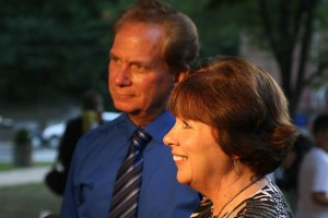 William Smolinski Sr., left, and Janice Smolinski, speak to reporters about their son, William Smolinski Jr., who has been missing for nine years during the Night of Hope Sunday on the Naugatuck Town Green. –RA ARCHIVE