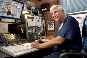 Joe Del Buono, retired deputy fire chief in Waterbury, dispatches at the Naugatuck Fire Department on Monday. Del Buono was recently hired as the new fire department dispatcher. –RA ARCHIVE