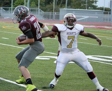 Naugatuck defeated Kennedy 49-19 Sept. 26. –ELIO GUGLIOTTI