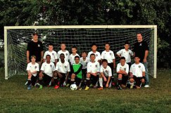 The Naugatuck Pride U11 Boys soccer team fell just short of their first tournament title at the Columbus Day New Milford Jamboree Oct. 12. Naugy finished the group round with a 3-1 record and the No. 1 seed. The Pride lost to Northwest United, 2-1, in the final. Pictured, front, Tyler Timlen, Steven Alziphat, Chris Akinduro, Ryan Galiette, Jay Barth, Tommy Pomei, Tyler Demoura and Vinny Sullo. Back, coach Dave Ranno, Bailey Ceryak, Tyler Ranno, Chad Mahler, Simon Carvalho, Ryan Kiely, Elijah Myers, Nelson Alves, coach Brian Ceryak. Missing from picture, coach Joe Carvalho.-CONTRIBUTED