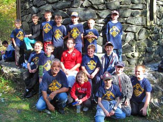 Prospect Cub Scout Pack 27 was busy over the month of October. On Oct. 4, the scouts helped unload pumpkins for St. Anthony's Church Pumpkin Patch. On Oct. 13, the scouts hiked to the tower at the top Mt. Tom in Litchfield (pictured above) with their families. -CONTRIBUTED