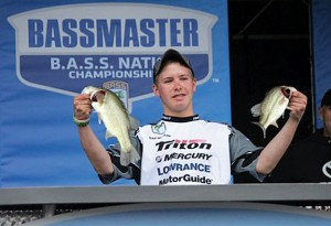 Naugatuck resident Noah Winslow, a freshman at Nonnewaug High School in Woodbury, competed in the Junior Bass Nation World Championship in October. Winslow finished second in his age group at the championship. –CONTRIBUTED