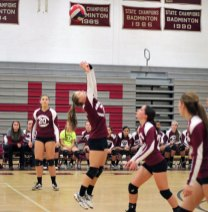 Naugatuck faced off against Bristol Central Nov. 4 in the opening round of Class L volleyball tournament at Naugatuck High. Bristol Central won the match, 3-1. –ELIO GUGLIOTTI