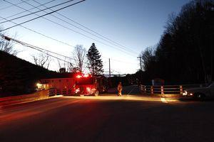 Firefighters closed Route 44 at the intersection of Ashpohtag Road in Norfolk on Monday night after a fatal crash nearby that claimed the life of John Maida, of Naugatuck. –RA ARCHIVE