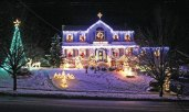 Mike and Linda Mayfield's home at 23 Hopkins Hill Road in Naugatuck is lit up for the season. The Mayfields have put on a Christmas lights show for the past six years. The lights are choreographed again this year to 'Wizards in Winter,' 'O Holy Night,' and 'Christmas Eve in Sarajevo.' The show begins daily at 5:30 p.m. and runs until 10:30 p.m. Sundays through Thursdays and until midnight on Fridays and Saturdays. To hear the music, tune into to 107.7 FM. The show typically stays up through the New Year. –CONTRIBUTED