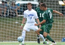 Naugatuck native Riker Mitchell earned All-GNAC Second Team honors as a defenseman with Albertus Magnus soccer. –RON WAITE