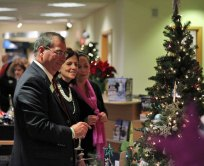A reception was held Dec. 6 at Ion Bank on Church Street in Naugatuck to open the United Way of Naugatuck and Beacon Falls' 7th annual Festival of Trees. –ELIO GUGLIOTTI