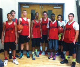 The Naugatuck All Stars basketball travel team recently wrapped up the season with a record of 35-13. The team placed in several tournaments this year, including winning the Avon Classic, coming in second place in the Hartford Classic and B.P.T. Love Life Summer Tournament, as well as third place finishes in the Cardinal Sheehan Center Spring League and L.N.V. Shelton Boys Club Fall League. Pictured, from left, Dayvon Russell, Dave Roskowsky, Alex Witkowski, C.J. Wall, Scott Millet, Dyllan Tyson, Dashon Russell and Aaron Manouse. Not pictured, coach Matt Witkowski, Blake Hardy, Ethan Vance, Lucas Warren, Jordan Booker, Richard Hawk, Cameron Caulfield and Maleek Brooks. –CONTRIBUTED