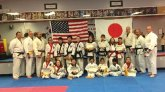 USA Martial Arts in Naugatuck held a Japanese Jujitsu grading on Feb.10. Students demonstrated skills throws, sweeps, joint locks and break falls. Pictured, front row, Anna Demagistris, Natalia Lizak, Andrew Hopkinson, Lauren Mulinsky, Leah Quijano, Joshua Raj and Evin Lin. Back row, Randy Bauley, Scott Mercure, Anthony Oliver, Kylie Ramponi, Justin Oliver, Sean Evardo, Nathaniel Smith, Karli Butcher, Nicky Mercure, Kathleen Robinson, Nicholas Quijano, Geoff Quinn, Pete Melescnig and Mike Gizzi. –CONTRIBUTED