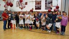 The Naugatuck girls basketball team celebrated senior night Feb. 20. –KEN MORSE