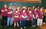 The Naugatuck Special Olympics basketball team participated in the Special Olympics Connecticut Invitational March 15 at Holy Cross High School in Waterbury. –CONTRIBUTED