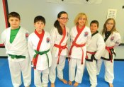 Members of USA Martial Arts in Naugatuck won 29 trophies including 12 first place awards at a Cheezic Tang Soo Do Karate Tournament held at the Waterbury Athletic Center on April 13. Some of the participants and winners included Jacob Myers, Sean Sayer, Kylie Ramponi, Anna DeMagistris, Andrew Hopkinson and Kathleen Robinson. -CONTRIBUTED