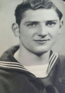 Naugatuck resident Charles Roland pictured during his time in the U.S. Navy. Roland, a World War II veteran, will lead the borough's annual Memorial Day parade as grand marshal. –CONTRIBUTED