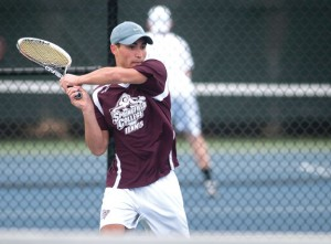 Former Woodland tennis star and Prospect resident Kyle Beynor, who won the 2012 and 2013 NVL singles titles, has made an immediate impact on the collegiate level playing for Springfield College. –SPRINGFIELD COLLEGE