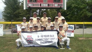 The Robert A. Cole Little League of Beacon Falls won the Little League District 3 championship in the 9-10 baseball division. –KYLE BRENNAN