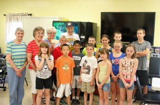 The United Day School in Beacon Falls donated a check for $265 to the Beacon Falls Senior Center Aug. 1. The school raised the money at a lemonade stand in July. The money will go towards programming for seniors. 'It was a great surprise and we definitely appreciate it,' Senior Center Director Bernadette Dionne said. –ELIO GUGLIOTTI