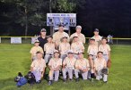 The Robert A. Cole Little League Rising Stars team defeated Ansonia July 25 11-1 to win the Rising Stars championship. The team played an eight-game series against teams from Seymour and Ansonia. They beat out Seymour July 23 in the semifinals to advance to the championship game. Pictured keeling, Kayo Niebrzydowski, Danny Knox, Caleb Shea, Matthew Gunnison, Colby Riggerio and Ryan Deptula. Middle row, Max Martin, Tyler Lato, Sean Swanson, Logan Carlson, Dakota Palange and Joey Syrowsky. Back row, coaches Derek Palange, Mark Swanson, Matt Deptula and Matt Shea. –CONTRIBUTED