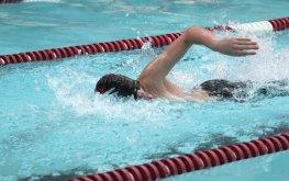 Naugatuck's Evan Bombery swims the 200 freestyle Feb. 20 versus Masuk in Naugatuck. Naugy won the meet, 94-74. –ELIO GUGLIOTTI