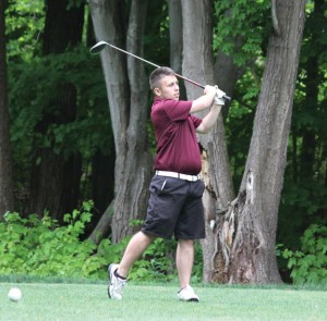 Naugatuck's Jake Alcorace, a captain of the golf team, was the medalist in matches versus Wilby and Wolcott last week. –FILE PHOTO