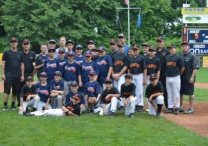 The Union City Little League Braves and the Peter J. Foley Little League Giants played for the Naugatuck title Saturday at Foley Field. The Braves won the game, 9-1. –CONTRIBUTED