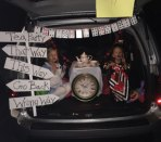 Cross Street Intermediate School in Naugatuck hosted a Trunk or Treat Oct. 30. The trunk pictured above depicting the tea party scene from Alice in Wonderland won best decorated. –CONTRIBUTED