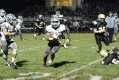 Woodland beat Naugatuck, 50-24, Nov. 6 in Beacon Falls to win the George Pinho Trophy. –ELIO GUGLIOTTI