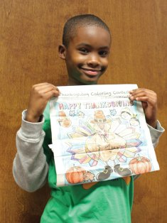 Ethan Glover won the Citizen's News Thanksgiving coloring contest in the 6- to 8-year-old age group.- ELIO GUGLIOTTI