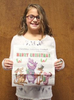 The Citizen's News recently held its Christmas coloring contest. Lindsey Hacker won in in the 6- to 8-year-old age group. –ELIO GUGLIOTTI
