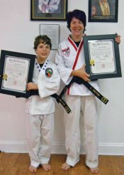 Sokol's Taekwondo in Naugatuck held a testing for black belts Oct. 3. Boen Beavers, James LaFleur, Troy Payton, Pier Cirillo and Laura Payton were promoted to 1st degree black belt. -CONTRIBUTED