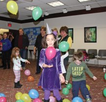 The Prospect Library hosted a Noon-Year's Eve celebration Dec. 31. The celebration, which culminated a craft program, included party hats and a countdown to a balloon drop at noon. –LUKE MARSHALL