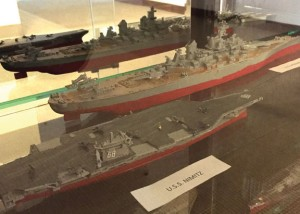Hillside Intermediate School sixth-grader Xavier Bliege, 11, assembled these model ships. His model ships are on display at the Howard Whittemore Memorial Library in Naugatuck. -REPUBLICAN-AMERICAN