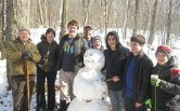 Boy Scouts from Troop 109 in Naugatuck participated in the annual Klondike Derby Feb. 5 at Camp Mattatuck in Plymouth. –CONTRIBUTED