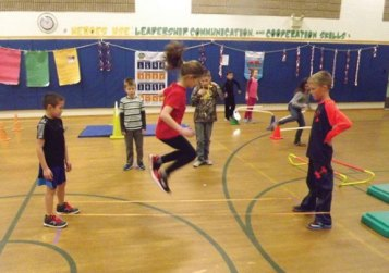 Students at Laurel Ledge School in Beacon Falls recently participated in the 2015-16 Jump Rope for Heart event. Together, the students raised a total of $7,884 for the American Heart Association. –CONTRIBUTED