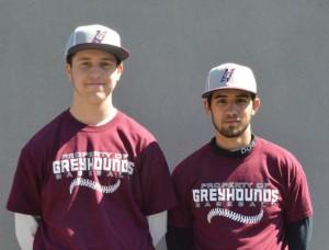 Naugatuck High School seniors Kyle Torok, left, and Devan Aviles will lead the baseball team on the diamond this season. –KEN MORSE