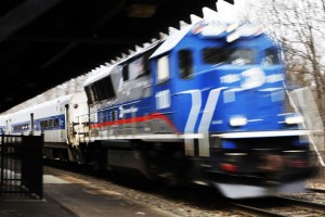 A Metro-North train departs the Naugatuck train station April 1. The legislature is considering a bill that would create the Transit Corridor Development Assistance Authority to help municipalities develop property around commuter rail and CTFastrak stations. -REPUBLICAN-AMERICAN