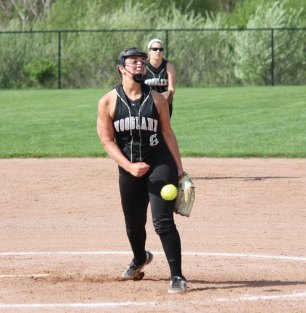 Woodland's Ivy Geloso pitches Monday versus Naugatuck in Beacon Falls. Naugatuck won the game, 5-1. –ELIO GUGLIOTTI