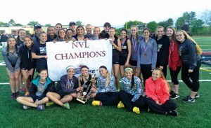 The Woodland girls won their fourth straight NVL outdoor track and field championship Tuesday in Torrington. –REPUBLICAN-AMERICAN