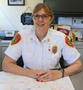 Naugatuck Fire Chief Ellen Murray. –LUKE MARSHALL