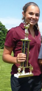 Naugatuck's Mia Rotatori finished second in the first NVL Girls Invitational with a round of 58 June 2 at the Watertown Country Club. –REPUBLICAN-AMERICAN
