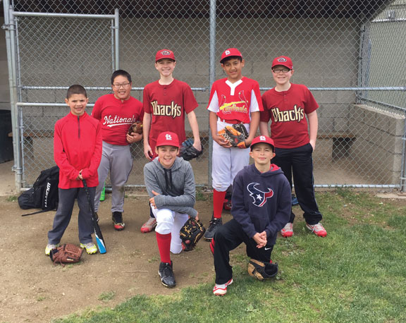 Players from Peter J. Foley and Union City little leagues in Naugatuck competed in the MLB Pitch, Hit, and Run sectionals May 15 at Eugene Hanley Little League in Winsted. Players advanced to the sectionals by winning at least one of four categories — pitching, hitting, base running or all around winner — at the local Pitch, Hit, and Run competition hosted by Naugatuck Parks and Recreation. Pictured, front row from left, Alex Chirkout, Nadia Cestari, Jayson Main; back row from left, Aidan Adanosky, Ian Normand, Jimmy Ayash and Eugene Normand. –CONTRIBUTED
